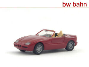 Herpa-H0-020749-BMW-Z1-Cabriolet-rot-dunkelweinrot