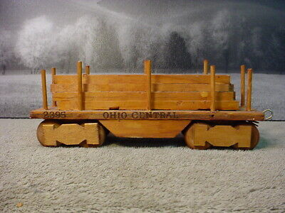 HO Scale Flat Car Lumber Load  Real Pine Wood Handmade
