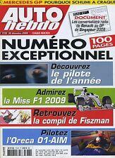 AUTO HEBDO n°1733 du 30 Décembre 2009 ORECA 01 AIM Ron Dennis