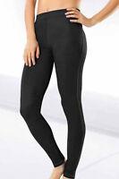 Full Length Cotton BLACK Stretch Denim Look Jeggings 18-20-22-24-26 Plus Size