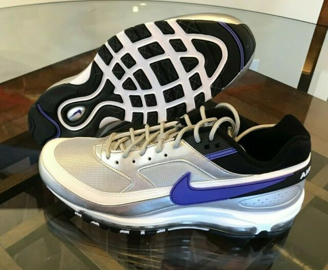 Men's Nike Air Max 97bw Metallic Silver Persian Violet Size 10 Ao2406 002