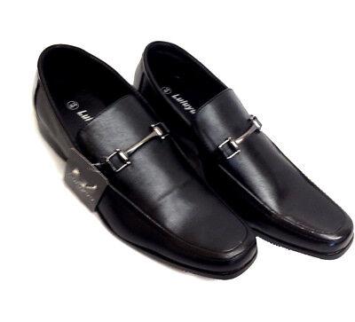 Para Hombre Negro Zapatos Con Cordones Inteligente Trabajo Boda Formal Informal L1921-5 UK Size 6 Nuevo