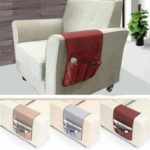 Armrest Organizer TV Remote Holder 4 Pocket Caddy for Couch Sofa Recliner Chair