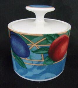 Casual-Victoria-Beale-034-Forbidden-Fruit-034-Sugar-Bowl-w-Lid-Porcelain-9024