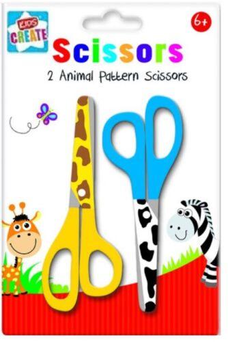 Animal Pattern Arts Crafts Gift For Childern Pack of 2 Kids Child Scissors