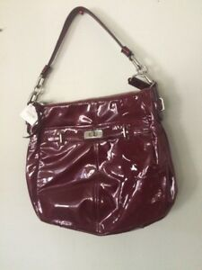 Image Is Loading Nwt Coach 17861 Chelsea Wine Red Crimson Patent