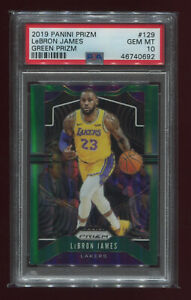 LEBRON-JAMES-2019-Panini-Prizm-Green-Prizms-129-PSA-10-GEM-MINT-Lakers-INVEST