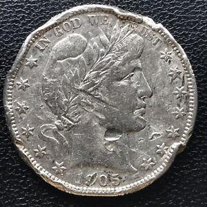 1905 S Barber Half Dollar 50c Rare High Grade XF - AU Det. #16959