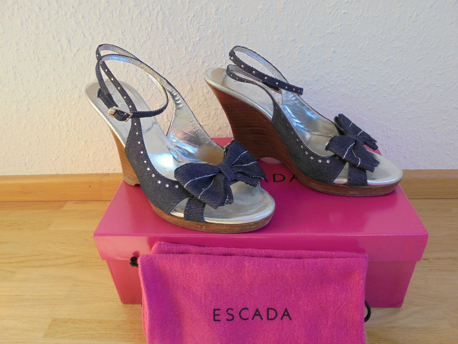 Feine ESCADA Leder Wedges NP:  TOP Schuhe Pumps High Heels Gr. 36