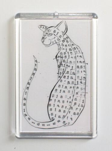 Siamese Cat Fridge Magnet SIA