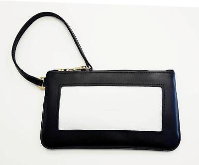 Black Smooth Leather Wallet ~ Snap Closing /& Interior for Needlepoint Canvas LEE