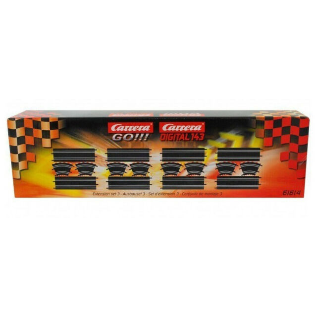CARRERA CAR61614 GO CURVE 1/43 EXTENSION SET 3 ROAD TRACK RACE CAR RACING 16 PCK