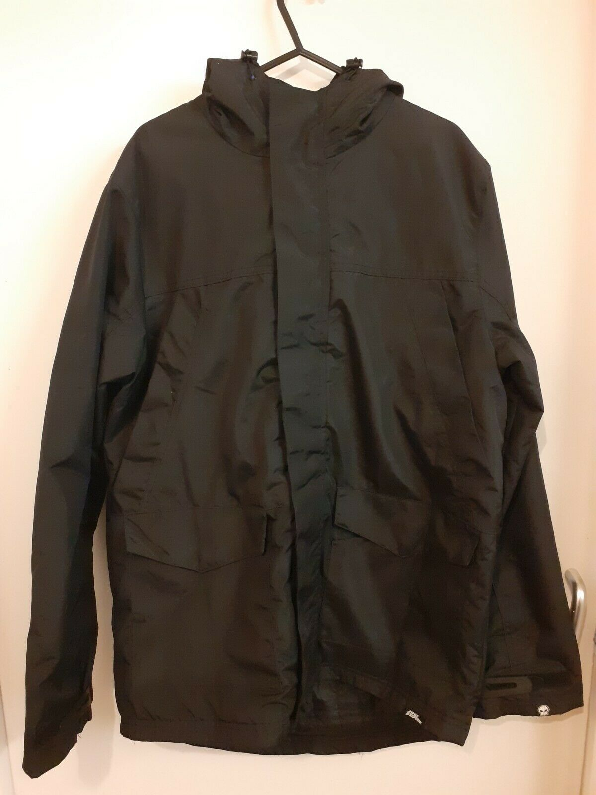 No Fear Black Hooded Coat Size Small.
