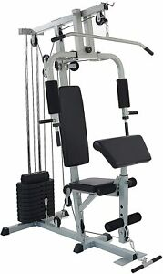 Sporzon Home Gym System Workout Station with 330LB of Resistance, 125LB Weight S