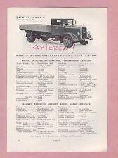 GAGGENAU Typentafel 1934 Daimler-Benz AG Mercedes LKW L o 3500, Omnibus L o 3500