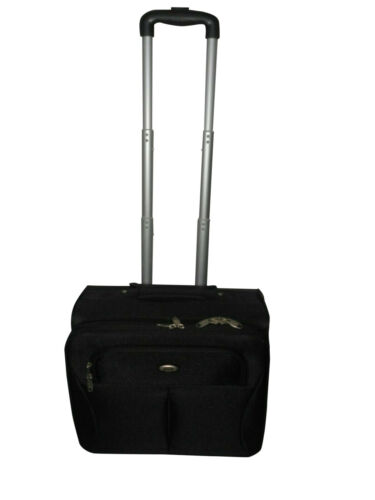 Free shipping. Computer laptop rolling case with vertical handles on wheels