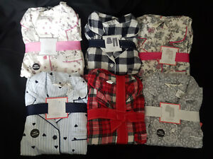 outlet store moderate price online store Details about BNWT PRIMARK FLANNEL BOYFRIEND BUTTON DOWN LONG PYJAMAS PJ'S