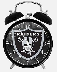 f3ab5abbf4a Oakland Raiders Alarm Desk Clock 3.75
