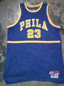 Super-rare-Jason-Richardson-Phila-NBA-basketball-Jersey-L-size-Reebok