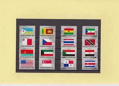 """Weltweit Hingebungsvoll Uno New York Flaggen """" 373-388 Gestempelt """" Wurde Nicht Im Abo Geliefert Jade Weiß Briefmarken"""