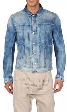 DIESEL Juzicon Denim Jacket X-Large XL Light Blue Cotton Button Front Blue Icon