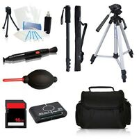 Professional Tripod Accessory Bundle Kit For Canon Vixia Hf R400, R40, R42