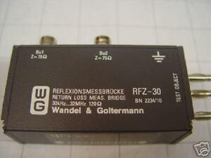 Wandel-amp-Goltermann-RFZ-30-Reflektionsmessbruecke