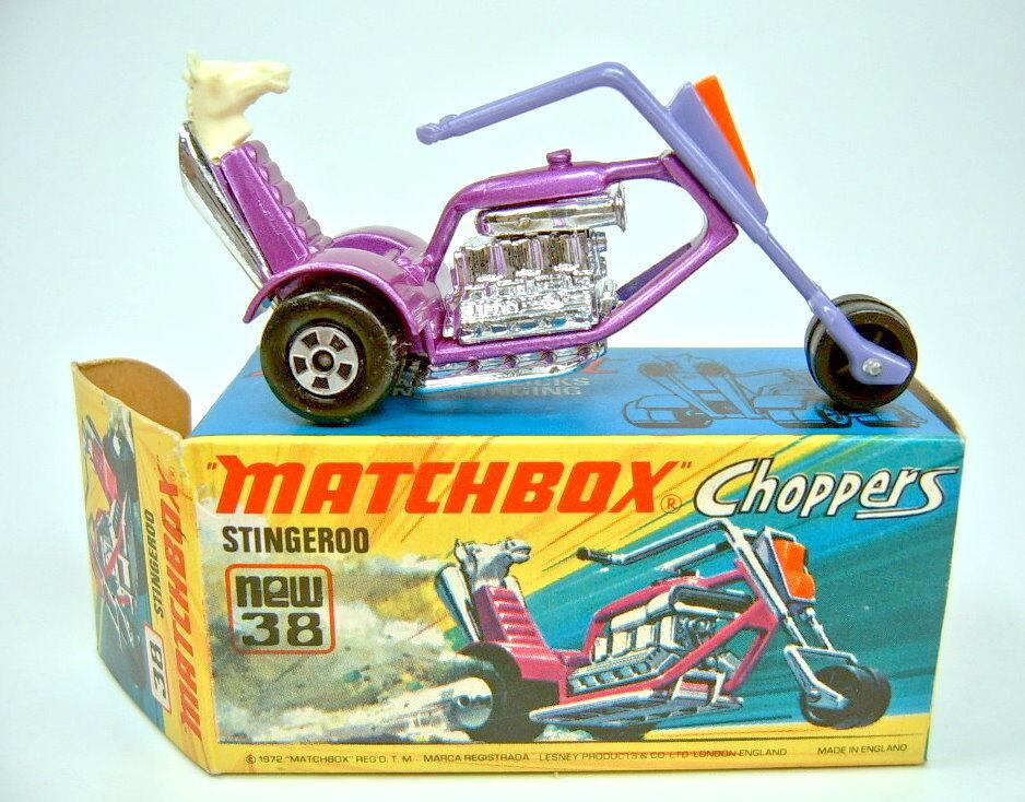 MATCHBOX superfast Nº 38b stingeroo Chopper violetmetallic top dans Box