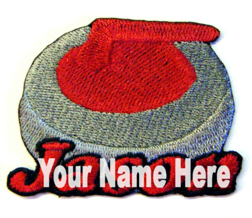 Curling Stone Custom Iron-on Patch With Name Personalized Free