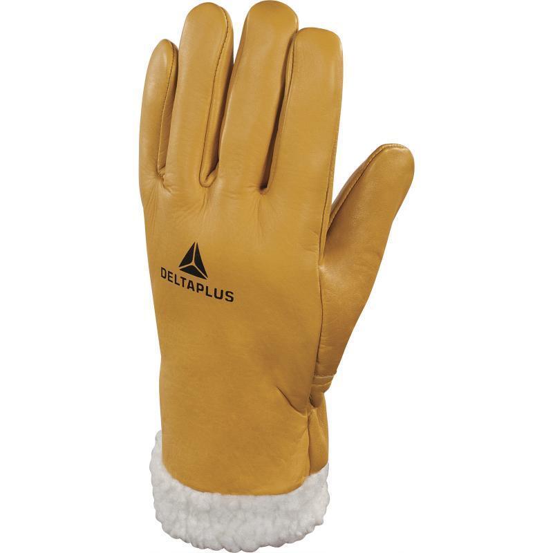 Delta Plus Fur Lined Leder Ski Gloves Winter Warm Cold Driving Thermal Alps