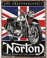 Norton Best Roadholder British TIN SIGN vintage motorcycle art metal poster 1953