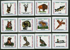 Spirit-Lake-Tribe-Indian-Reservation-2009-2010-set-of-12-Hunting-stamps