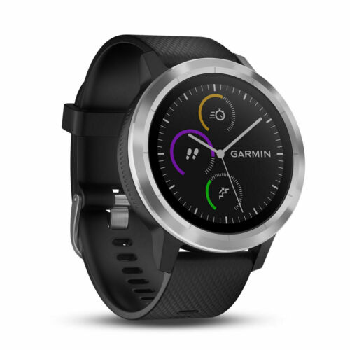 New Garmin Vivoactive 3 Black w// Stainless Smartwatch 010-01769-01 More