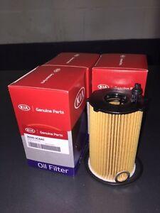 oem factory 2011 2015 kia sorento v6 oil filters 4 pack. Black Bedroom Furniture Sets. Home Design Ideas