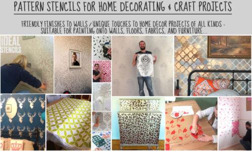 Leaf Stencil Wall Home Décor Decorating Art Craft Paint Reusable Ideal Stencils
