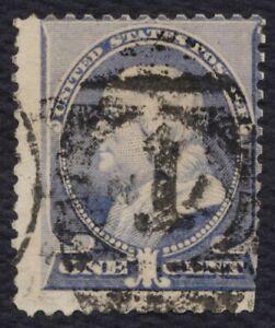 #212 1c Benjamin Franklin-Numeral Cancelado, Usado [4] Cualquier 5=