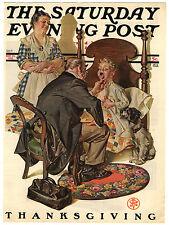 Rare Original VTG 1930 Saturday Evening Post Leyendecker Cover Only Art Print