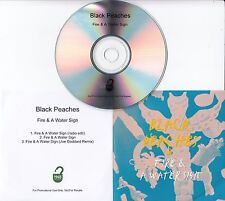 BLACK PEACHES Fire & A Water Sign UK 3-track promo test CD Joe Goddard Remix