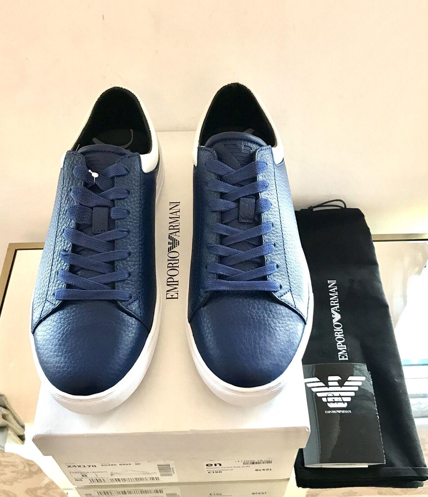 Emporio Emporio Emporio Armani Blu scarpe da ginnastica Basse Scarpe Da Ginnastica Scarpe Da Ginnastica Taglia 8 EU 42 nella casella Nuovo di Zecca | Sensazione Di Comfort  738511