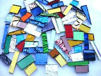 100g Mixed Color Mirror tile off Cut Mosaic Pieces. Odd shapes & sizes