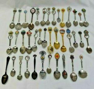 Mix-lot-of-39-Souvenir-Spoons