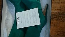 Duo (Ted & Muffy) Green suede platform knee high boots RRP £230 BNIB size 5 slim