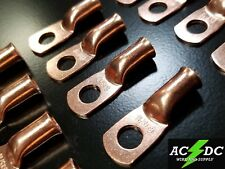 """#4 AWG COPPER LUG 5//16/"""" NON-INSULATED BATTERY CONNECTORS UNINSULATED USA 10"""