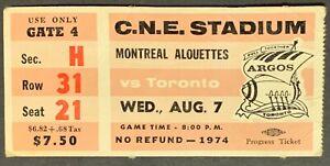 1974-C-N-E-Stadium-CFL-Football-Ticket-Toronto-Argonauts-v-Montreal-Alouettes