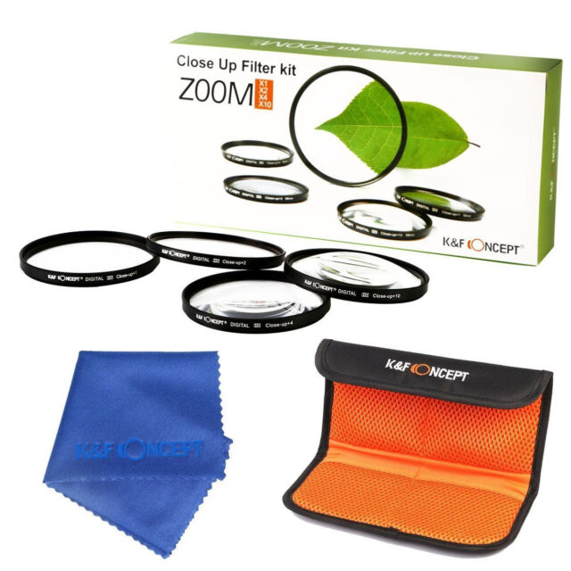 52mm Close Up Macro +1+2+4+10 Filter Kit Set For Nikon D40X D60 D100 D3200 D3000