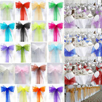 100 Wedding Chair Covers Decorations White  Banquet Centerpieces Folding Covers