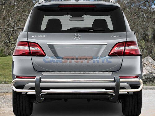 2012-13-2014 Mercedes ML350 ML500 ML550 Stainless Double Tube Rear Bumper Guard