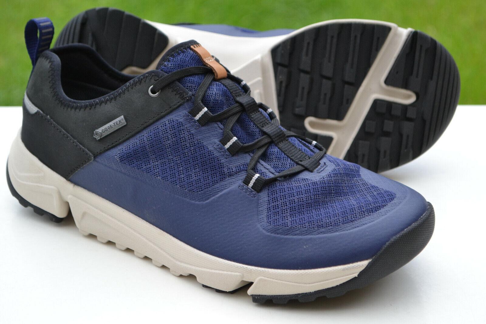 Clarks Mens Sporty Trigenic Shoes TRI TRACK RUN GTX Navy Combi UK 10 / 44.5