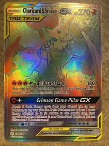 New Listing CHARIZARD BRAIXEN 251/236 Pokemon SUN MOON Cosmic Eclipse GX Art SECRET Rare