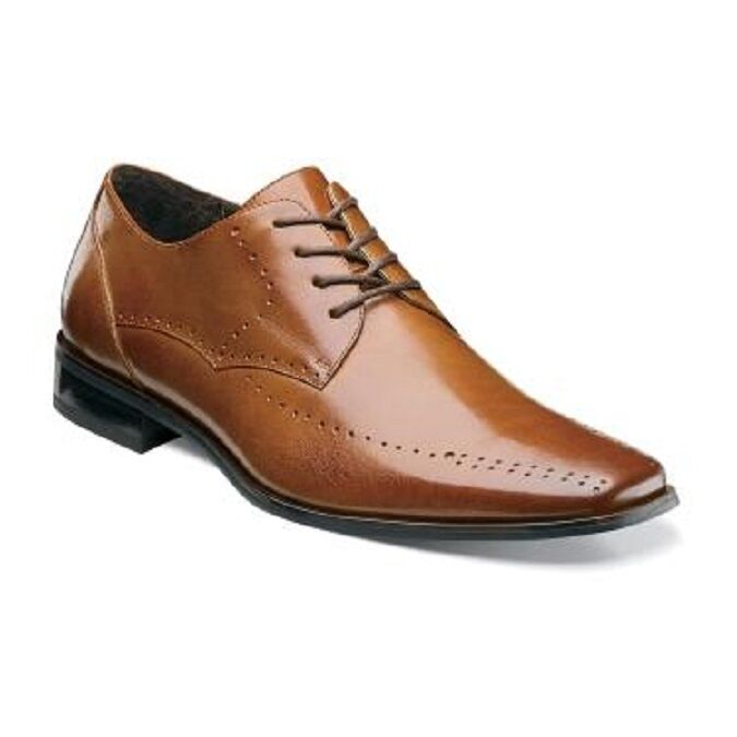 Stacy Adams Uomo Scarpe Atwell Cognac Plain toe oxford Lace Up Casual 24811-221